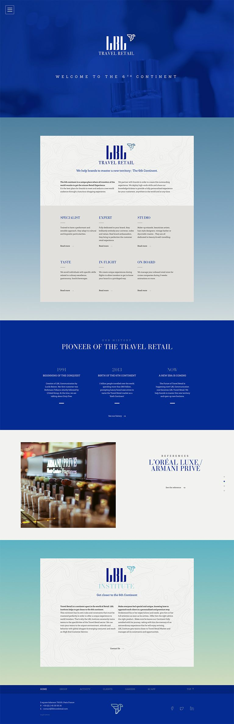 LBL Travel Retail Homepage